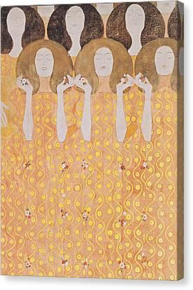 Chor Der Paradiesengel Canvas Print by Gustav Klimt