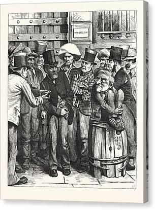Chorus Hungry Democrats. Come, Bill Canvas Print by English School
