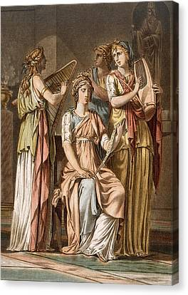 Chorus Of Israelite Women, Costumes Canvas Print by Philippe Chery