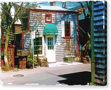 Chowder House Canvas Print - Chowder House Rockport Ma by Pachek