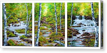 Chris And Willy's Falls Canvas Print by Jessica Tookey