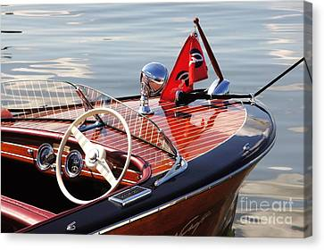 Chris Craft Deluxe Runabout Canvas Print by Neil Zimmerman