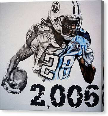 Chris Johnson Canvas Print by Jake Stapleton