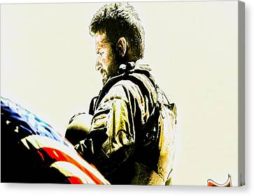 Chris Kyle Canvas Print by Brian Reaves
