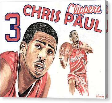 Chris Paul Canvas Print by Israel Torres