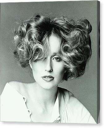 Center Part Canvas Print - Chris Royer Wearing A Hair Style By Dina Azzolini by Francesco Scavullo