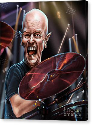 Drummer Canvas Print - Chris Slade by Andre Koekemoer