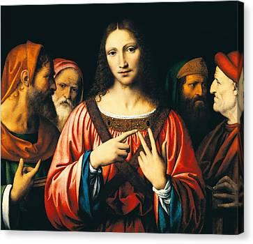 Christ Among The Doctors Canvas Print