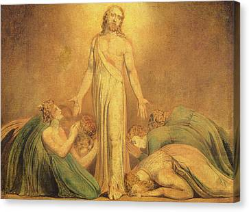 Christ Appearing To The Apostles After The Resurrection Canvas Print by William Blake