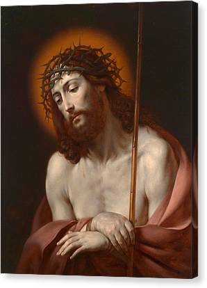 Christ As Man Of Sorrows Canvas Print by Anonymous