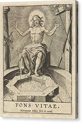 Christ As The Fountain Of Life Fons Vitae Canvas Print