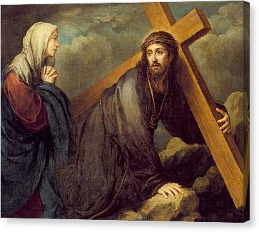 Christ At Calvary Canvas Print