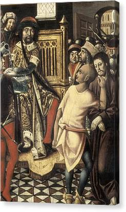 Christian Sacred Canvas Print - Christ Before Pilate. 1476 - 1500. A by Everett
