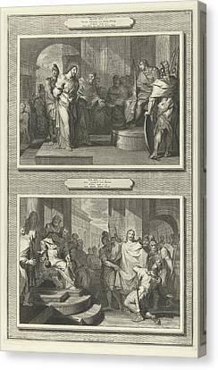 Christ Before Pilate And Herod, Gilliam Van Der Gouwen Canvas Print
