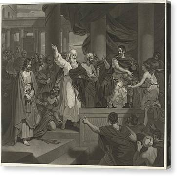 Christ Before Pilate, Charles Howard Hodges Canvas Print by Charles Howard Hodges And Robert Smirke