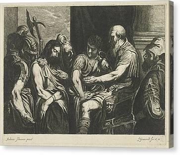 Christ Before Pilate, Johannes Gronsveld Canvas Print