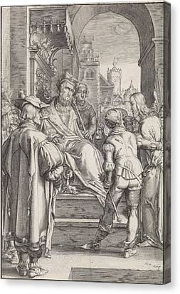 Christ Before Pilate, Ludovicus Siceram, Hendrick Goltzius Canvas Print by Ludovicus Siceram And Hendrick Goltzius