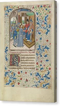 Christ Before Pilate Willem Vrelant, Flemish, Died 1481 Canvas Print