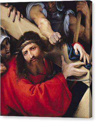 Christ Carrying The Cross, 1526 Oil On Canvas Canvas Print by Lorenzo Lotto