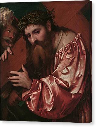 Christ Carrying The Cross Canvas Print by Girolamo Romanino