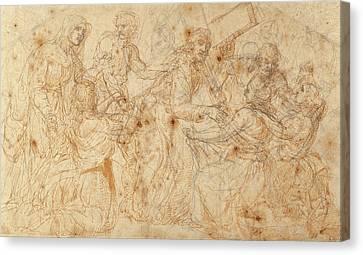 Christ Carrying The Cross Juan De Juanes Juan Maçip Canvas Print