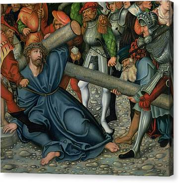 Christ Carrying The Cross Canvas Print by Lucas Cranach