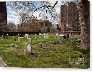 Ben Franklin Canvas Print - Christ Church Burial Ground by Kay Pickens