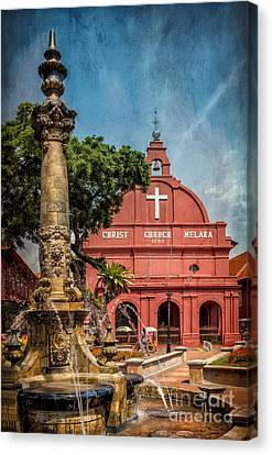 Christ Church Malacca Canvas Print by Adrian Evans