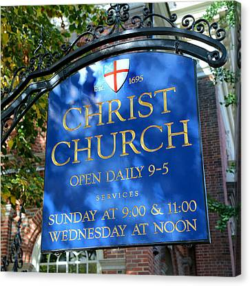 Christ Church Sign Canvas Print by Stephen Stookey