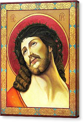 Christ Crowned With Thorns Canvas Print by Oksana Nabok