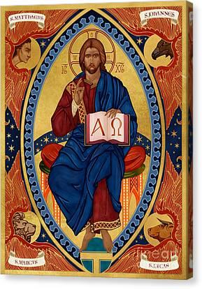 Christ In Majesty Canvas Print by Lawrence Klimecki