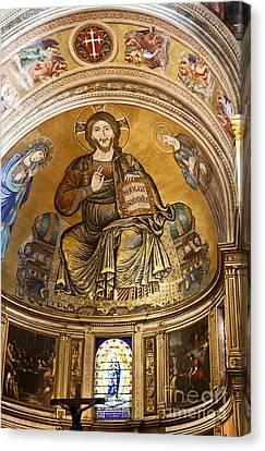 Christ In Majesty  Pisa Duomo Canvas Print by Liz Leyden