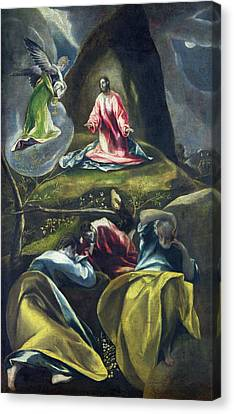 Christ In The Garden Of Olives Canvas Print by El Greco