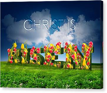 Christ Is Risen Canvas Print by Michele Engling