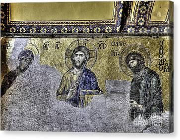 Christ Mosaic Canvas Print