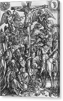 Christ On The Cross Canvas Print by Albrecht Durer or Duerer