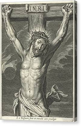 Christ On The Cross And Eclipse Canvas Print by Schelte Adamsz. Bolswert And Peter Paul Rubens
