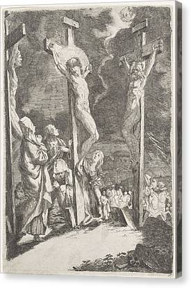 Christ On The Cross, Anonymous Canvas Print by Anonymous