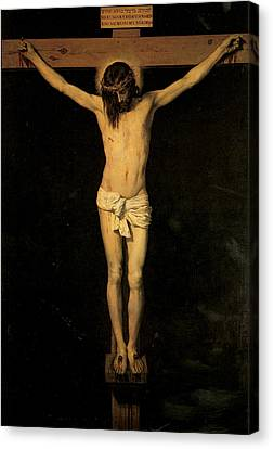 Religious Jesus On Cross Canvas Print - Christ On The Cross by Diego Velazquez