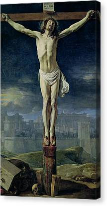 Christ On The Cross Canvas Print by Philippe de Champaigne