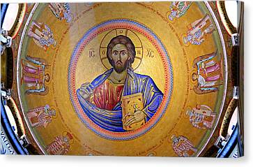 Greek Icon Canvas Print - Christ Pantocrator -- No.4 by Stephen Stookey