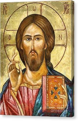 Christ Pantocrator Canvas Print by Dragica  Micki Fortuna