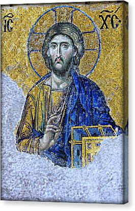 Greek Icon Canvas Print - Christ Pantocrator II by Stephen Stookey