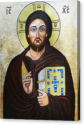 Christ Pantocrator Canvas Print by Ion vincent DAnu
