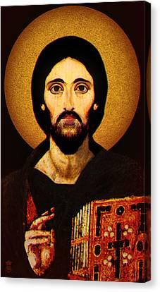 Christ Pantocrator Canvas Print by Li   van Saathoff