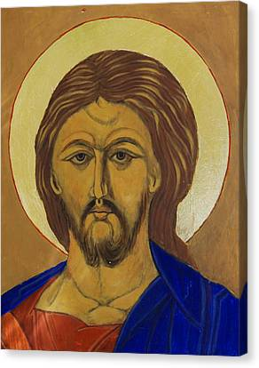 Christ Pantokrator Traditional Icon Canvas Print by Magdalena Walulik
