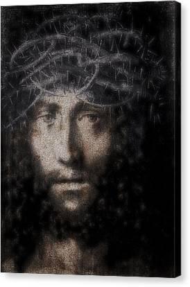 Gospel Of Matthew Canvas Print - Christ Suffering by Daniel Hagerman