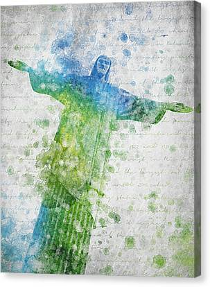 Christ The Redeemer  Canvas Print by Aged Pixel