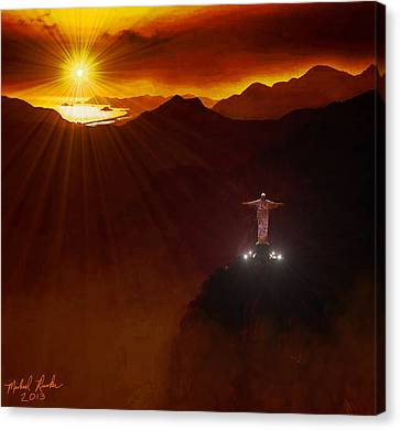 Christ The Redeemer Canvas Print by Michael Rucker