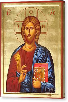 Christ Canvas Print by Theodoros Patrinos